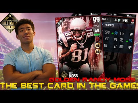 GREATEST CARD IN THE GAME! ULTIMATE TICKET RANDY MOSS! MADDEN 17 ULTIMATE TEAM