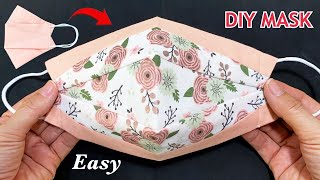 New Style Beautiful 2 Tone Mask Diy Breathable 3D Face Mask Easy Pattern Sewing Tutorial At Home