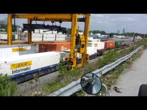 Norfolk Southern Mijack crane operation