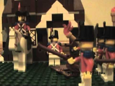 The Battles at Lexington and Concord in Lego