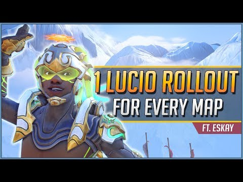 1 LUCIO ROLLOUT for EVERY MAP ft. Eskay