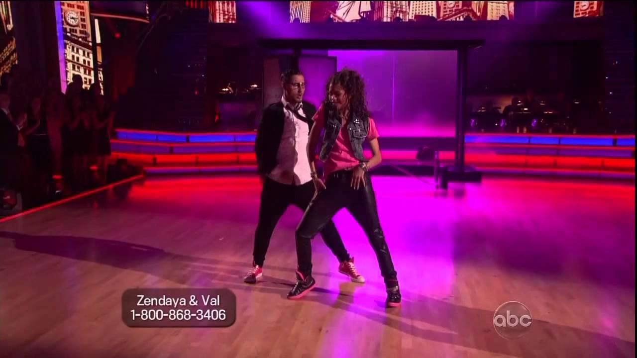 Zendaya Dancing With The Stars Rehearsal Zendaya  amp Valentin