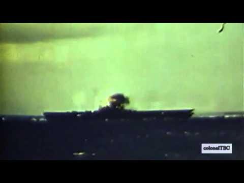 Kamikaze attacks USS Lexington (CV-16) - 5 November 1944