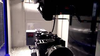 Running test without cutting tools CNC Proses crankcase SHARK Air Compressor