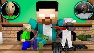 Monster School: Tiny Baldi Vs Tiny Granny Challenge - Minecraft Animation