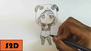 How To Draw Chibi Girl In PJ