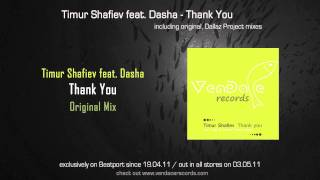 Timur Shafiev feat. Dasha - Thank You (Original Mix)