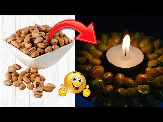 pista shell crafts | diwali decoration ideas | diya | reuse idea | #diy | #148