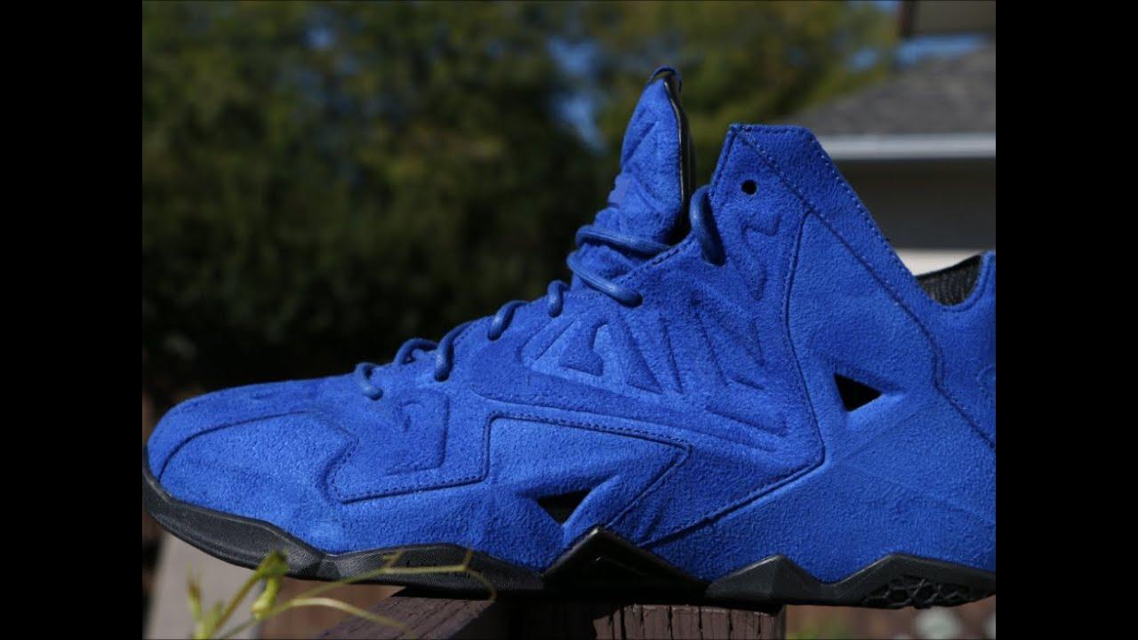 best service 0e30d 8825e Nike LeBron 11 EXT Blue Suede - Detailed Review