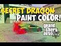 """GTA 5 Online - Amazing """"DRAGON PAINT COLOR"""" Paint Colors For Cars! """"GTA 5 Paint Colors"""""""
