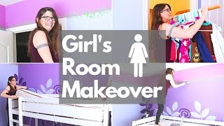 KID'S ROOM MAKEOVER // EMPTY DAUGHTER'S ROOM // CLEANING MOM