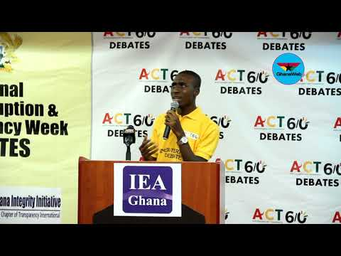 IEA inter-tertiary debate: University of Ghana vs Islamic University – Round 2