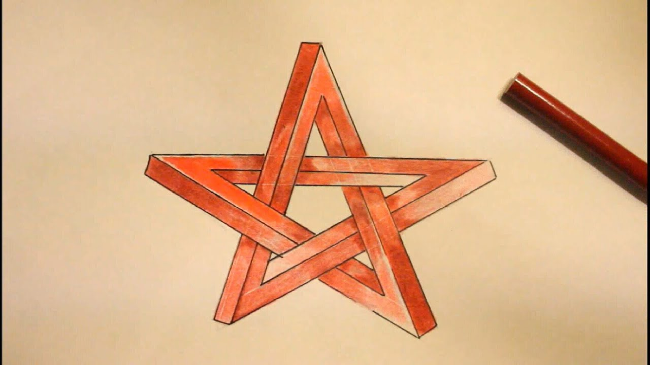 Cool 3d drawings step by step images for Make a 3d star