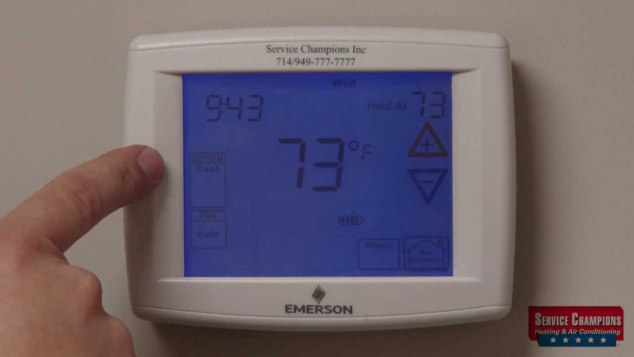 emerson air conditioner thermostat wiring diagram [ 1280 x 720 Pixel ]