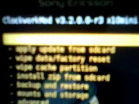 Instalar Android 2.3.7(CyanogenMod 7.1) en Sony Ericsson Xperia X10 mini pro Parte1