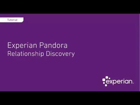 Relationship Discovery - Experian Pandora (Free Data Profiler)