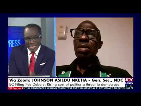 EC Filing Fee Debate: Why the Fuss? - PM Express on Joy News (15-9-20)