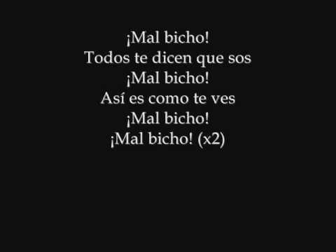 Mal bicho Letra  -  Los fabulosos cadillacs