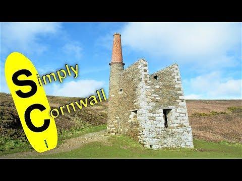 Cornwall UK. Mine Found On Cornish Coastline Is Wheal Prosper.