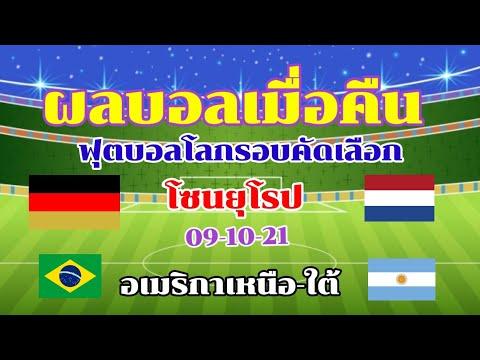 ผลบอลเมื่อคืน/ฟุตบอลโลกรอบคัดเลือกโซนยุโรป/อเมริกาเหนือ/อเมริกาใต้