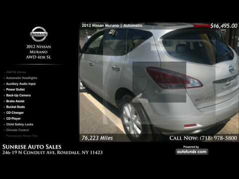 Used 2012 Nissan Murano | Sunrise Auto Sales, Rosedale, NY