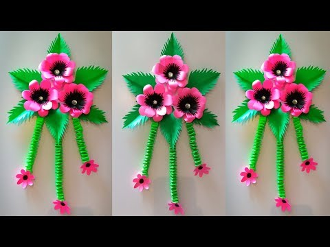 beautiful paper wall decoration idea || paper wall hanging decorations easy | easy crafts for home