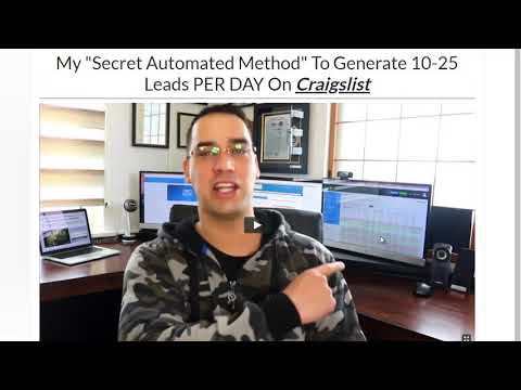 My Secret Automated Method To Generate 10 25 Leads PER DAY On Craigslist