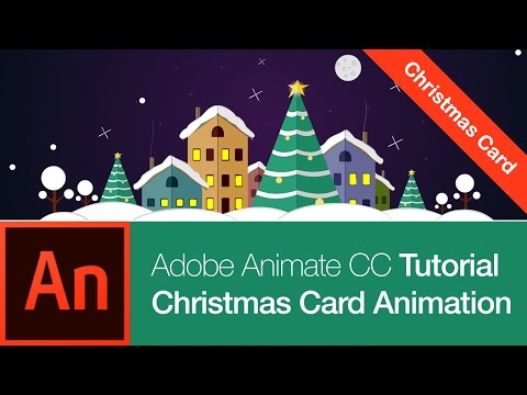 Animate CC Tutorial: Create a Christmas Card (FREE DOWNLOAD)