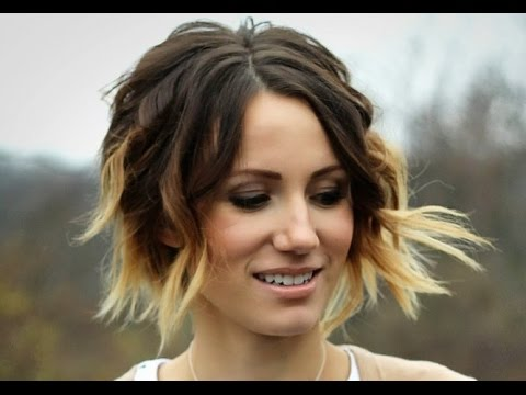 Beautiful Warm Ombre Bob Hairstyle Youtube