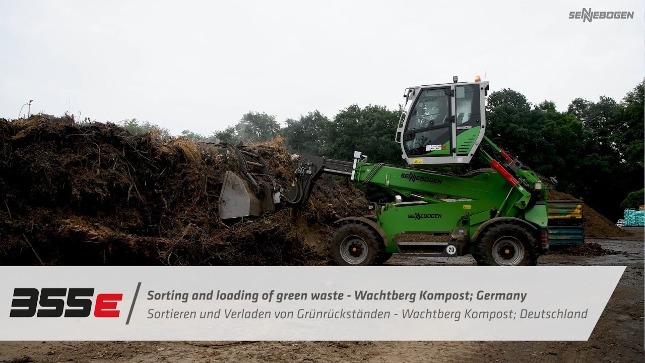 Sorting green waste - SENNEBOGEN 355 E