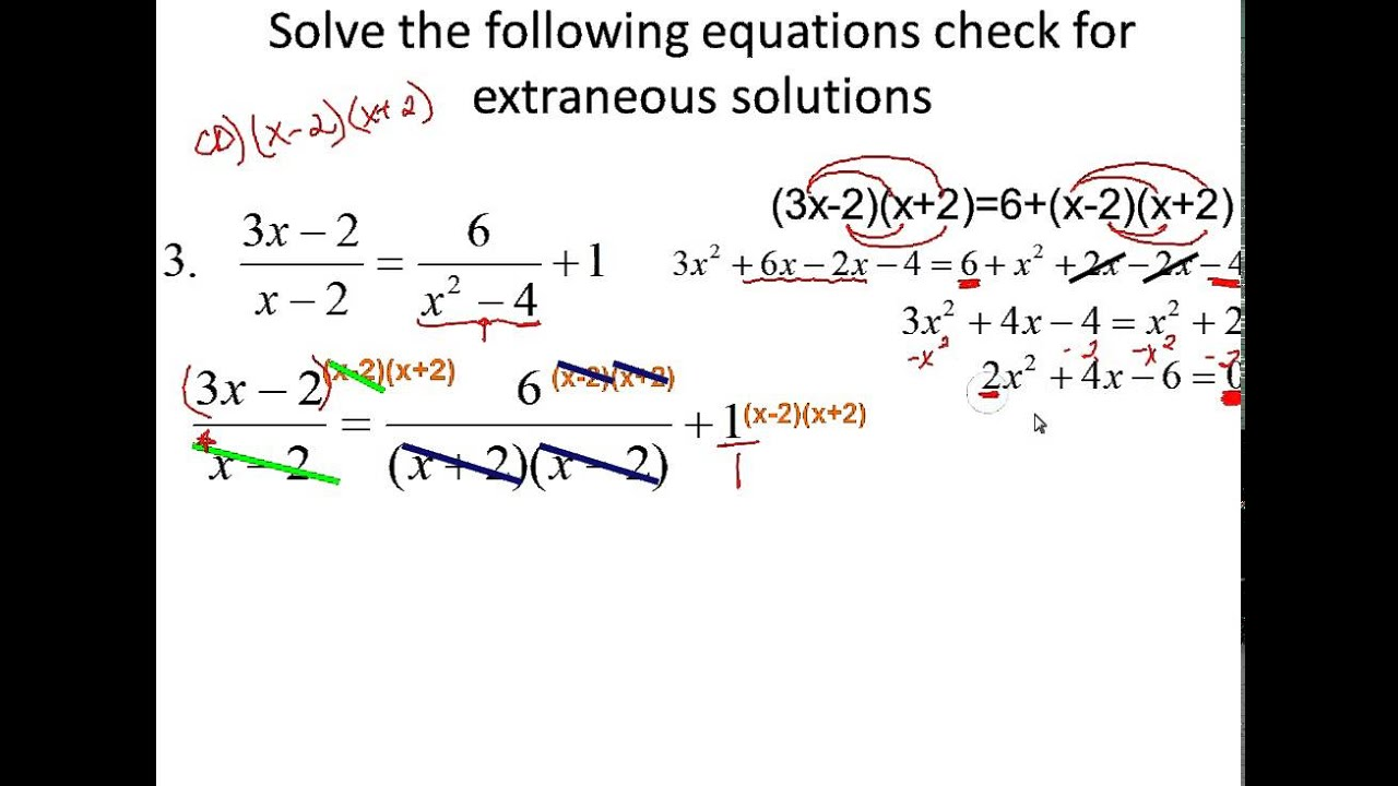 hight resolution of Solving Rational Equations (video lessons