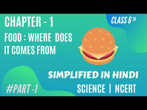 Chapter-1| food: where does it come from? | class 6th | science| EXCELLENCE STUDY | #PART 1