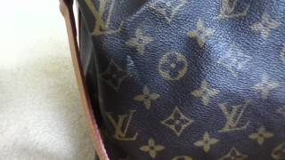 HOW TO Clean remove white marks on Louis Vuitton monogram canvas!