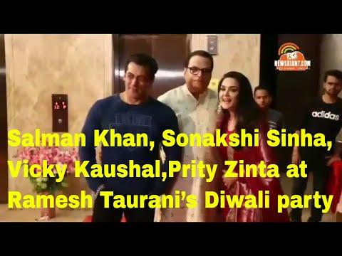 Salman Khan, Sonakshi Sinha, Vicky Kaushal and others at Ramesh Taurani's Diwali party Mp3