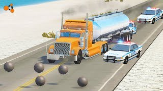 Beamng Drive - Rolling/flying balls shooting Сars crushes