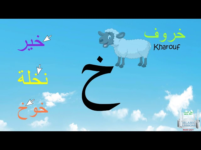 Arabic Alphabet Series - The Letter Kha - Lesson 7