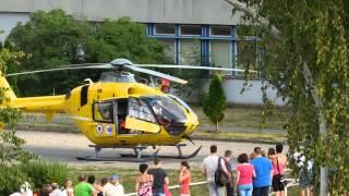 Mentőhelikopter Kazincbarcikán