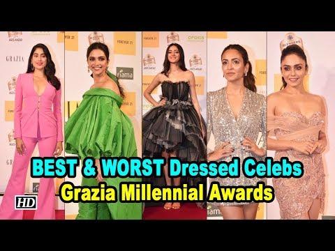 BEST & WORST Dressed Celebs at Grazia Millennial Awards Mp3