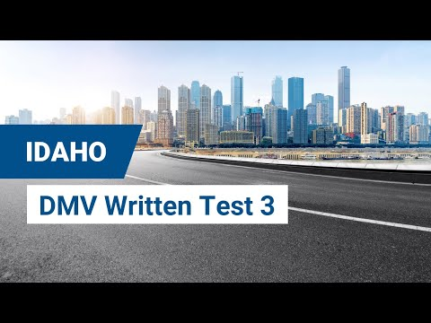 2020 Idaho DMV Written Test #3