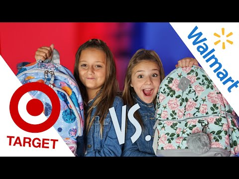 BACK TO SCHOOL HAUL/GIVEAWAY (Target Vs Walmart) | Piper Rockelle