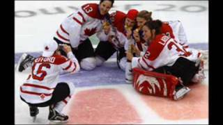 Canadian Women Hockey 2010 Celebration: Beer, Champagne & Cigars On Ice!