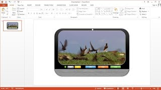 PowerPoint training |How to Make a Slideshow Video Animation Menu in MS PowerPoint