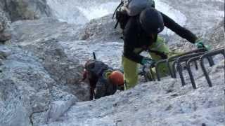 Marmolada Besteigung über den Westgrat Klettersteig