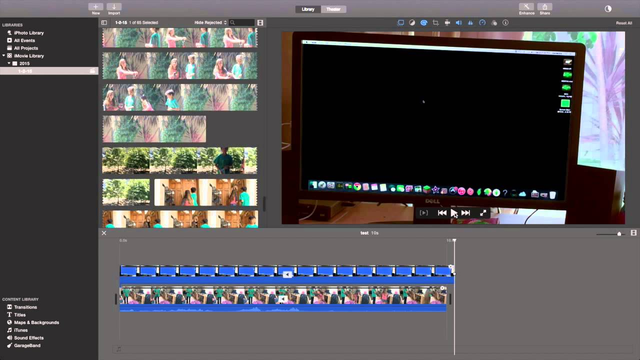 How to do special effects in imovie