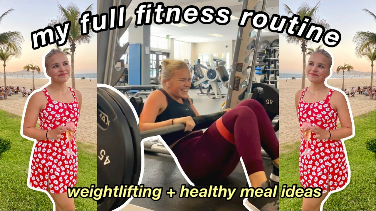 WORKOUT WITH ME FOR A WEEK! weightlifting, FULL fitness routine + meals for healthy and fun eating