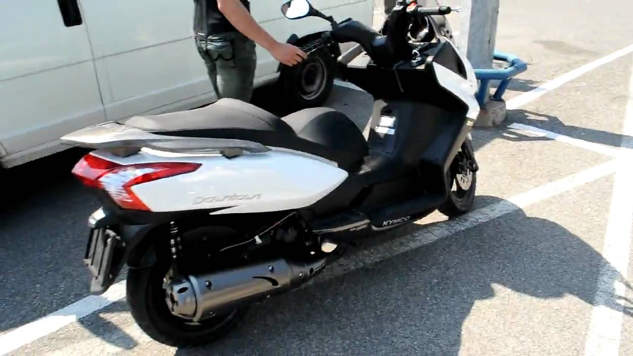 מתקדם Kymco Downtown 125 - very short test ride - YouTube JJ-08