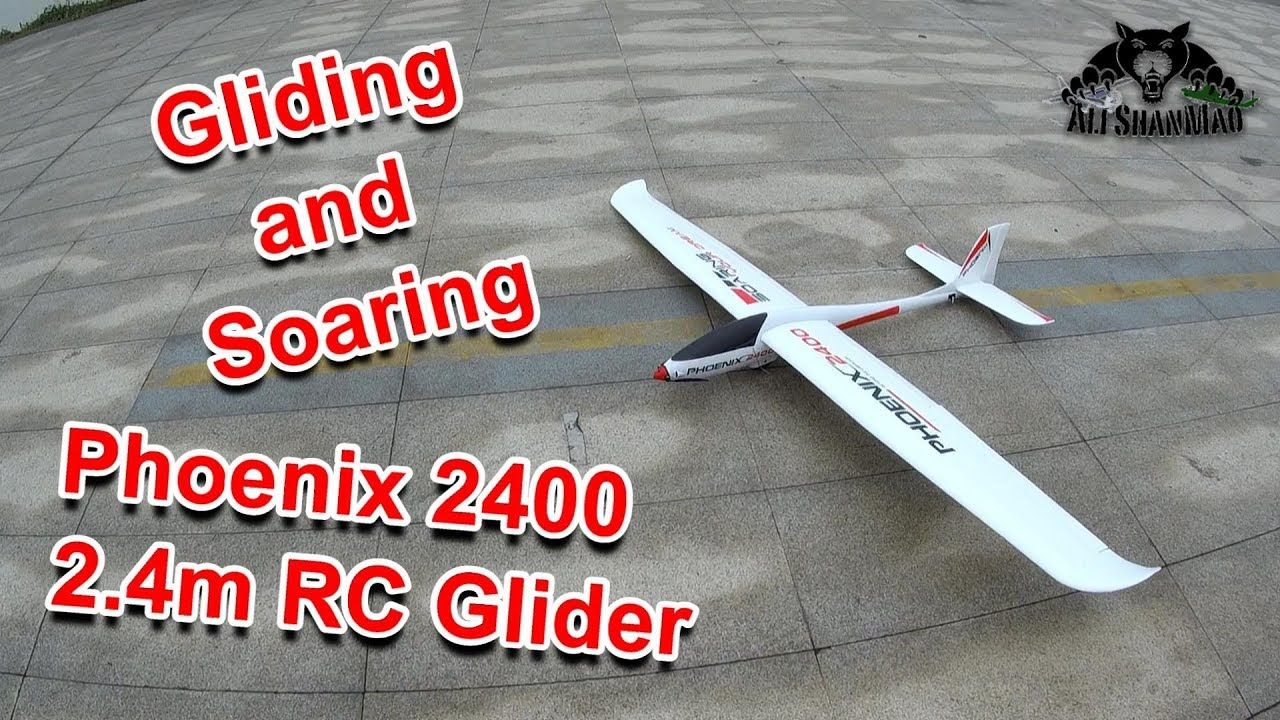 Phoenix 2400 Large Electric RC Glider Powered RC Glider Gliding and Soaring over river