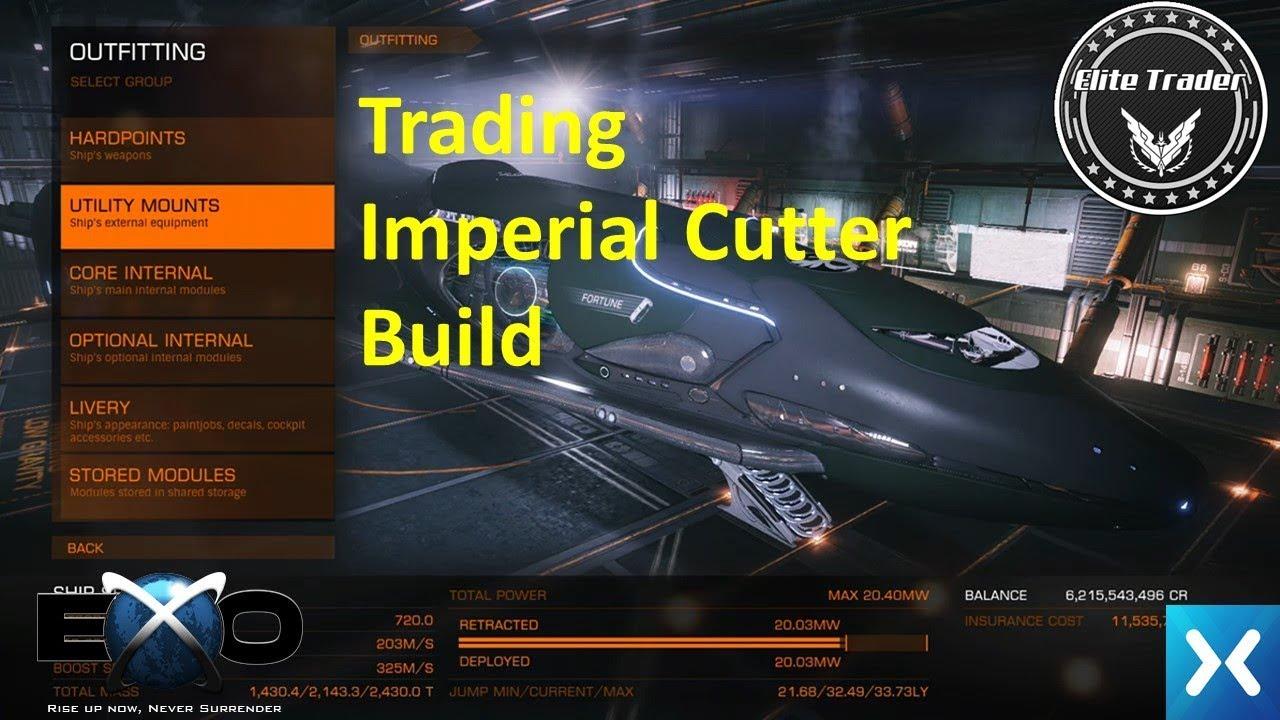Elite Dangerous - Trading Imperial Cutter Build - YouTube