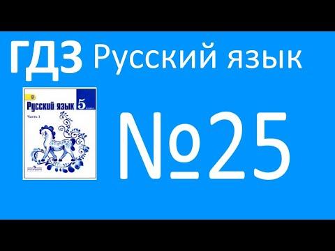 ГДЗ по русскому языку, Ладыженская 5 класс, упражнение 25, орфограммы