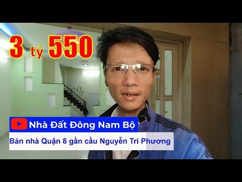 Video nhà bán 2 lầu đường Ba Đình P9 Quận 8, gần cầu Nguyễn Tri Phương